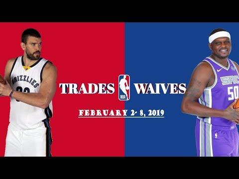 NBA Trades and Waives of the Week [FEB. 2 - 8, 2019]