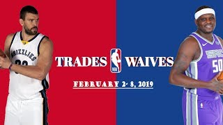 NBA Trades and Waives of the Week [FEB. 2 - 8, 2019]