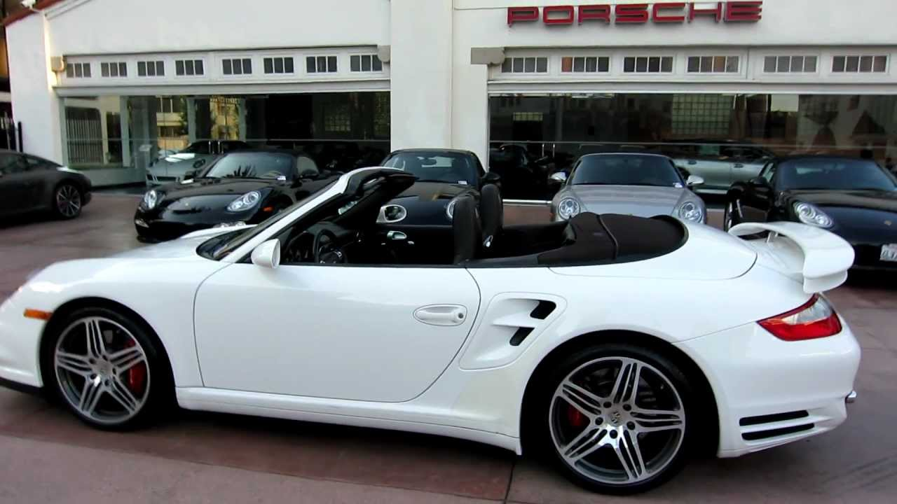 2008 porsche 911 turbo cabriolet white cocoa 6 speed celebrity owned youtube
