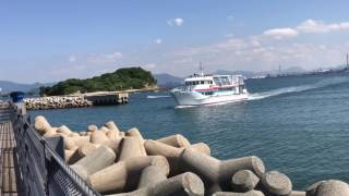 北九州市営渡船 小倉航路 「こくら丸」馬島港到着 thumbnail