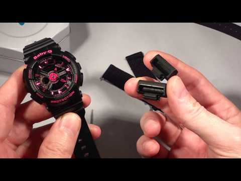 How to change strap band on Casio BabyG BA-111 watch to NATO ZULU with JaysAndKays Adapters