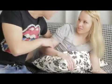 Brunette teen babe masturbating her