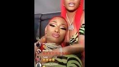 Nicki Minaj and Megan Thee Stallion Live On Instagram