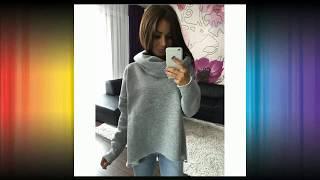 Women Winter Hoodies Scarf Collar Long Sleeve