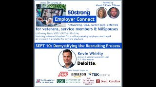 "9.10.20 Employer Connect ""Demystifying the Recruiting Process"""
