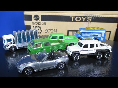 2017 H Matchbox Case New Toy Cars Glass King and Mercedes Benz AMG 6x6 6-wheeler