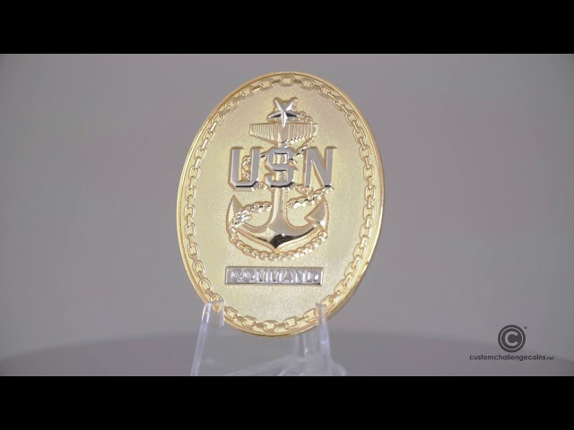 Custom Challenge Coin - USN Navy Command Challenge Coin