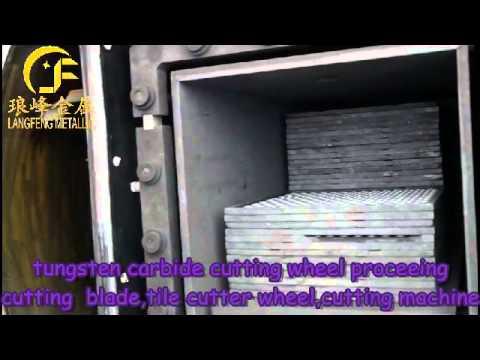 langfeng tungsten carbide cutting wheel processing