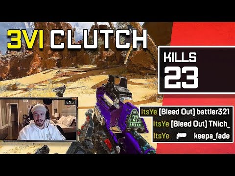 IMPOSSIBLE 1 vs 3 CLUTCH!! HIGH KILL APEX LEGENDS GAMEPLAY!! (WRAITH 1 V 3)
