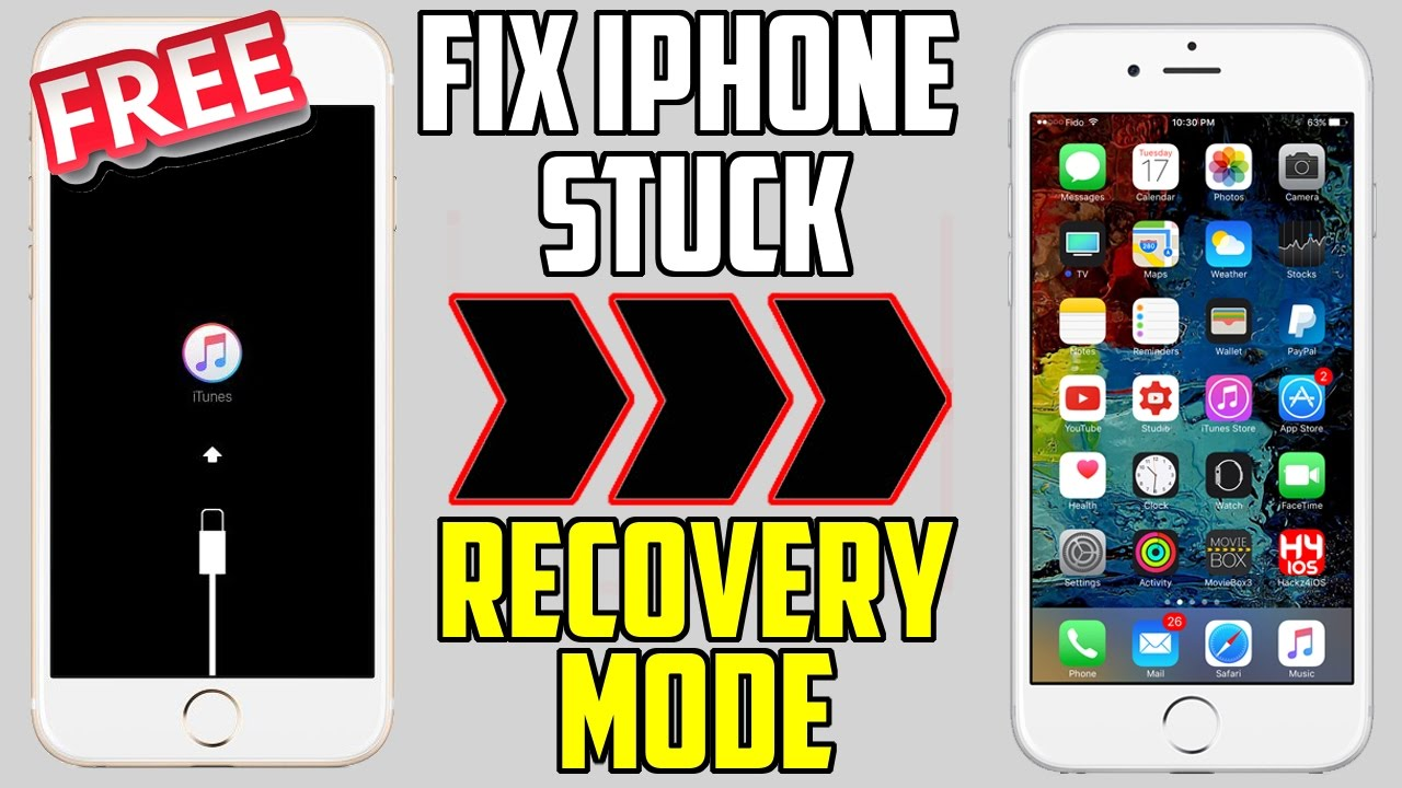 low priced eaa88 aa88d How to Fix iPhone Stuck on Recovery Mode / Apple Logo / Black Screen & More  ( iPhone, iPad , iPod)
