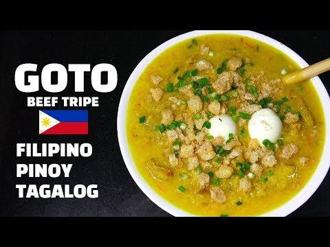 Goto - Beef Tripe - Pinoy Recipes - Congee - Tagalog Recipes