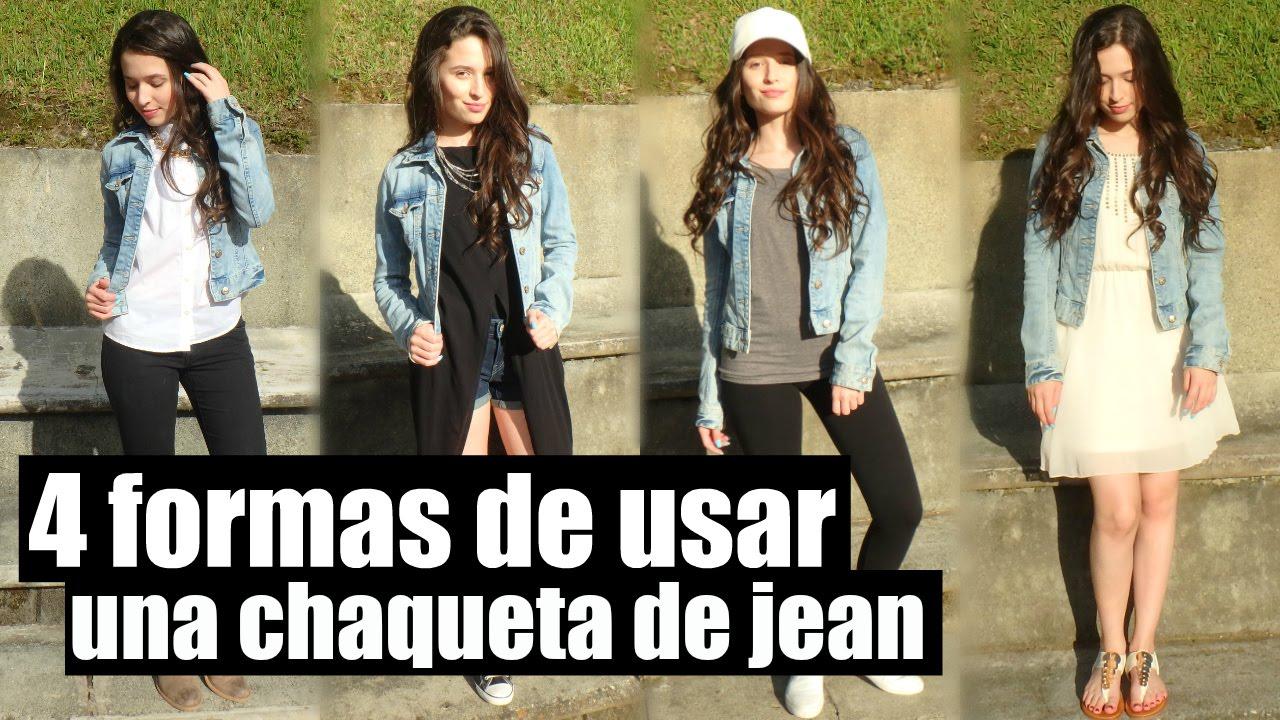 4 Formas De Usar Una Chaqueta De Jean | Colaboración ft. Lis De Saro