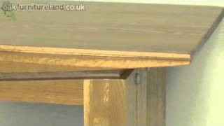 Tokyo Solid Oak Console Table From Oak Furniture Land