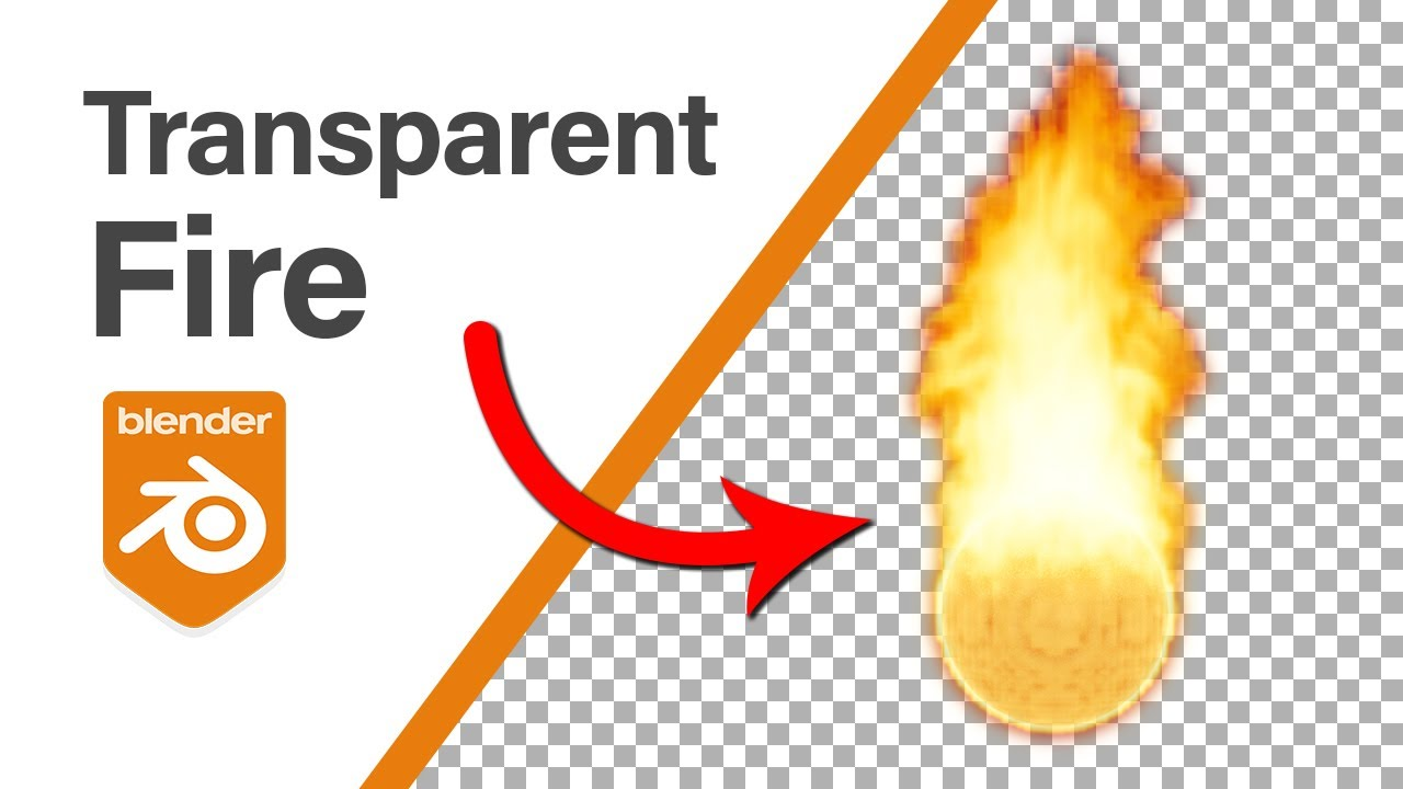 Blender Tutorial - Rendering Fire with Transparency