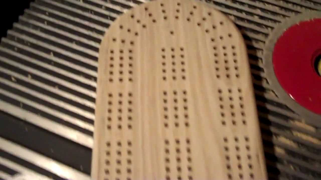 Making A Cribbage Board Part 1 Youtube