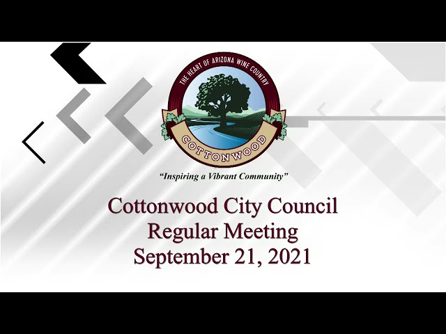 Sept 21: Cottonwood City Council Return From Executive Session 2