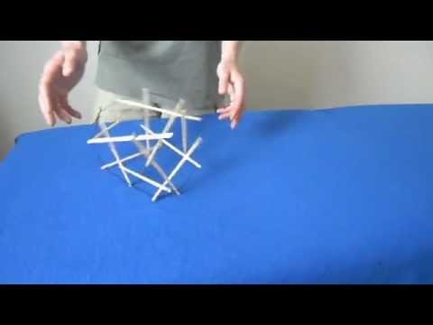 How To Build A Tensegrity Cube Youtube