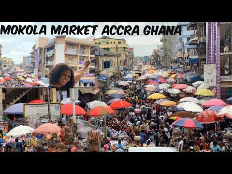 SHOPPING AT THE BUSIEST MARKET IN ACCRA GHANA 🇬🇭 | MAKOLA MARKET ACCRA | GHANA VLOG 2019
