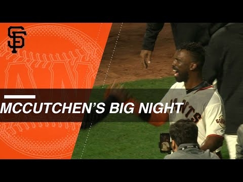 McCutchen hits a walk-off HR to cap a six-hit night
