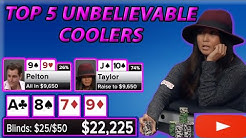 5 Times we saw UNREAL coolers on Poker Night