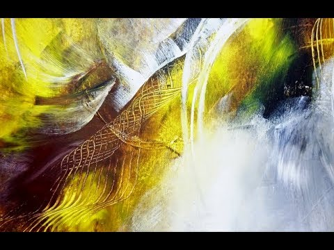 15 Min. Abstract Malen-4 Farben/für Anfänger/Abstract Painting-4 Acrylics For Beginners /V165