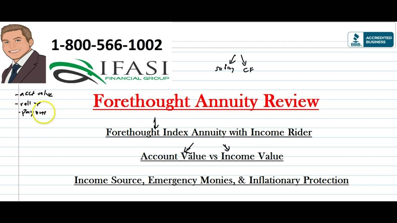 Exceptional Forethought Annuity   Forethought Annuity Review