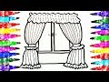 Coloring and Drawing Kids Bedroom Curtain Videos For Children l Learn Rainbow Colors Colored Markers