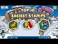 Top 10 Easiest Stamps in Club Penguin Rewritten