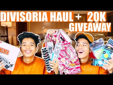 DIVISORIA HAUL + 20K SUBSCRIBERS GIVEAWAY 2018 | 698 MALL, 168 MALL, 999 MALL etc.