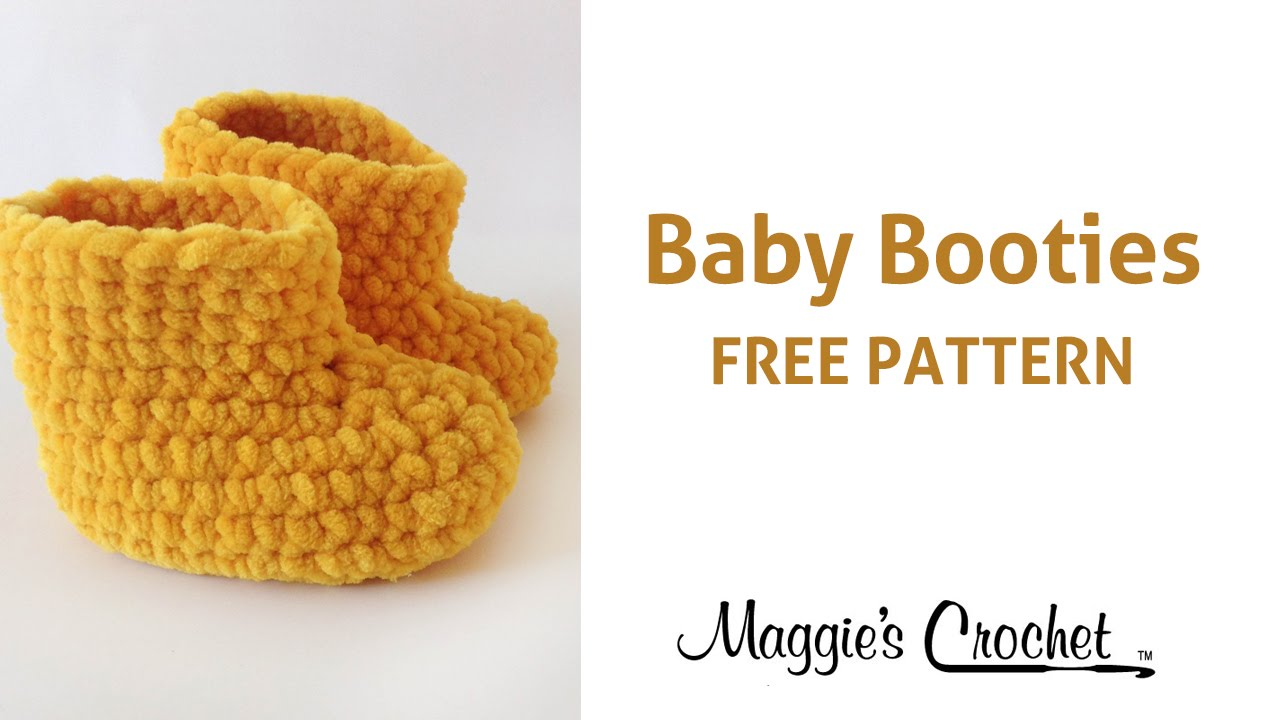 Free Crochet Patterns To Download For Babies : Parfait Baby Booties Free Crochet Pattern - Right Handed ...