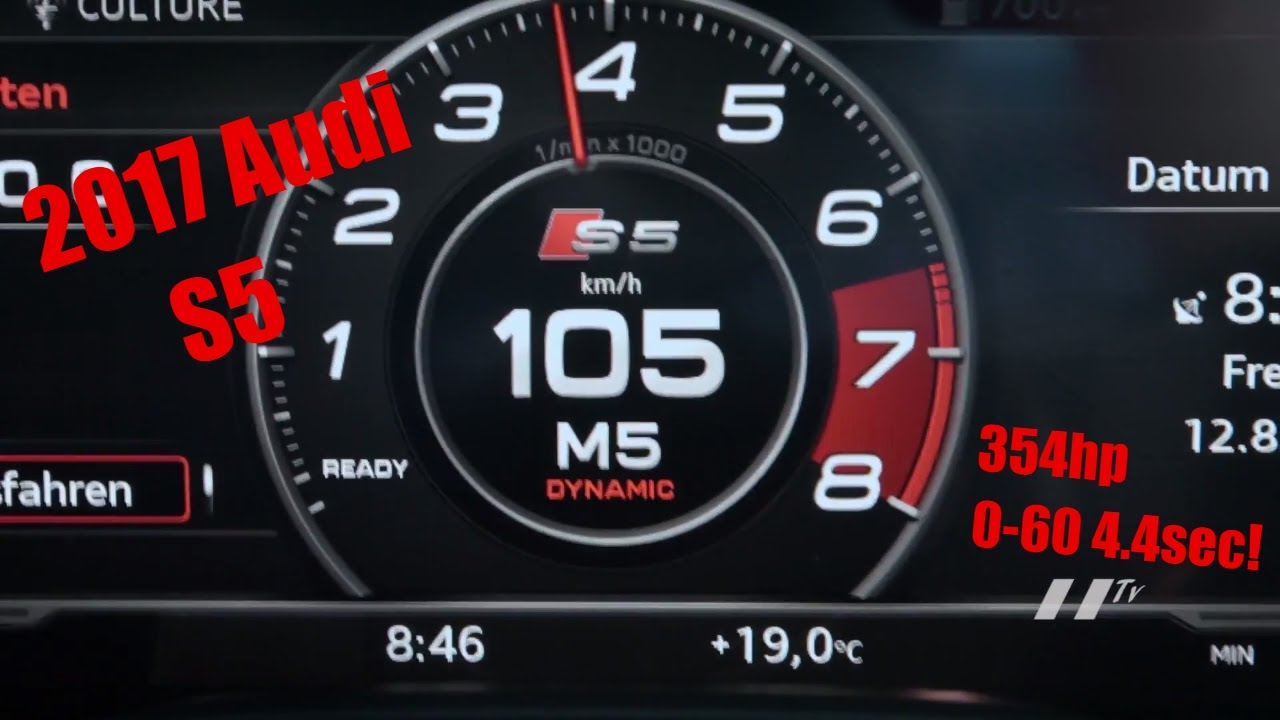 2017 Audi S5 Sportback 354hp 0 60 4 4sec Exhaust Driving Interior Revs Pov Acceleration