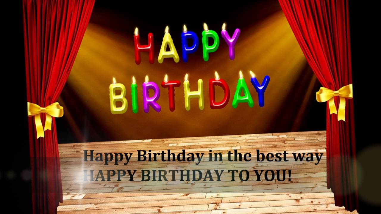 HAPPY BIRTHDAY ECARD FOR YOU Video Greeting Card