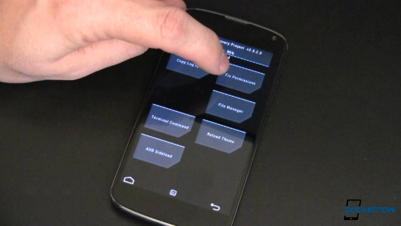 First Look at Team Win Recovery on the Nexus 4   Pocketnow
