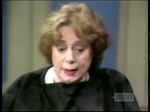 Elsa Lanchester Demonstrates Panty Hose, 1972 TV