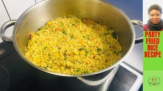 ✅ PARTY FRIED RICE RECIPE:EASY STEP BY STEP GUIDE FOR BEGINNERS
