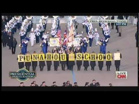 Punahou School Marching Band & JROTC Color Guard President Obama Inaugural Parade 2013