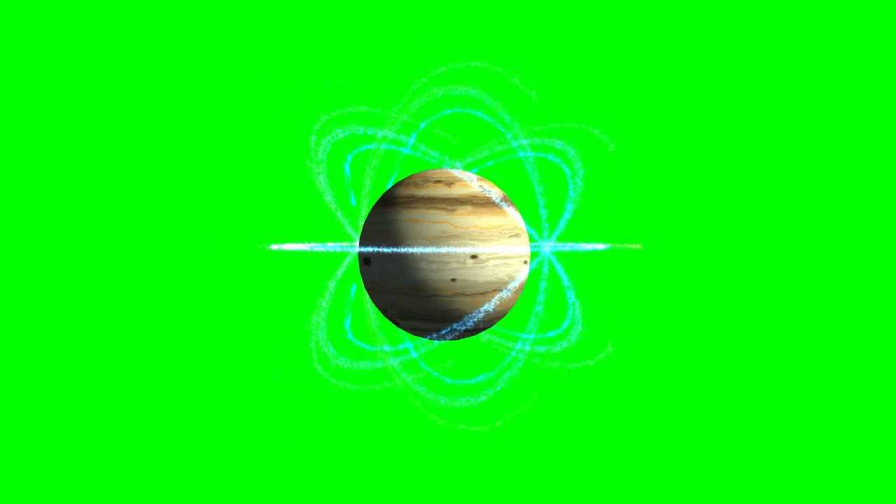 planet with plasma shield green screen template green screen