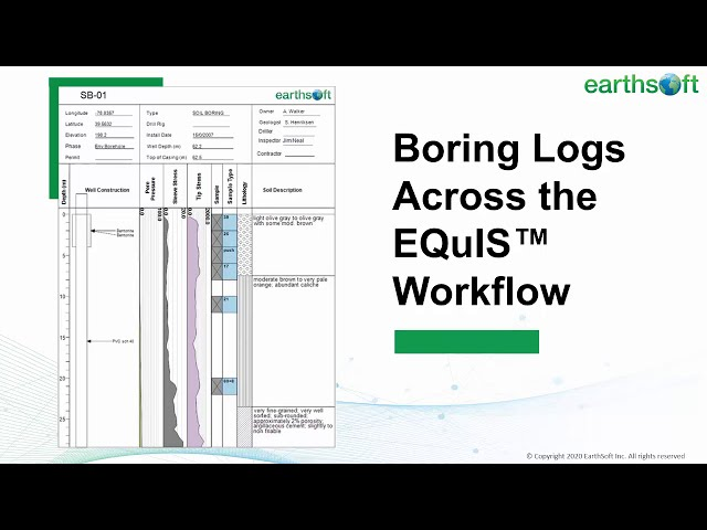 Boring Logs Across the EQuIS Workflow
