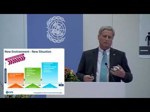 Sustainable Procurement Symposium - First session (UNOPS ED Jan Mattsson and David Noble from CIPS_