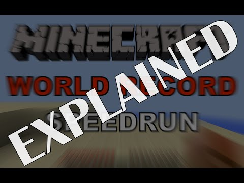 Explanation - Minecraft Any% random seed speedrun [14.974 seconds]