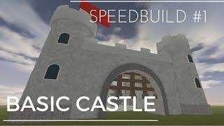 ROBLOX Basic Castle! Speedbuild Episode 1