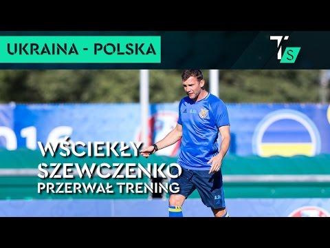 Euro 2016. Wściekły Szewczenko przerwał trening