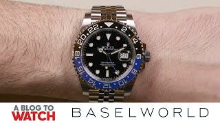 Rolex GMT-Master II 126710BLNR Watch Hands-On | New for Baselworld 2019 | aBlogtoWatch