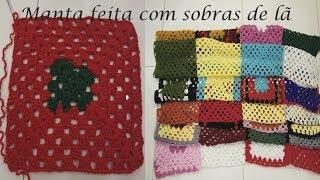 Manta de quadradinhos de crochê (fácil)