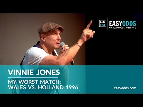 Vinnie Jones On Stage - Captaining Wales To A 7-1 Defeat To Holland.