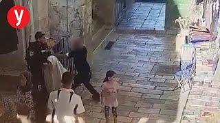 תיעוד ניסיון דקירה פיגוע ב ירושלים שער שכם רחוב הגיא
