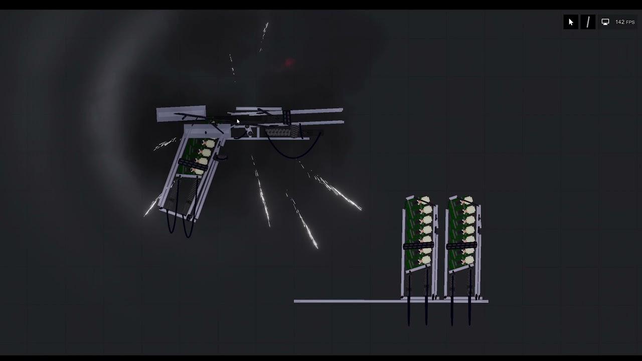 recoil operated pistol prototype