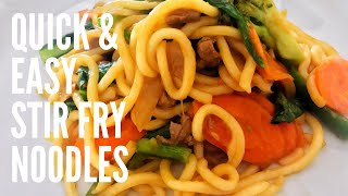 Quick and Easy Stir Fry Noodle Recipe | What I feed my kids