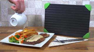 WILL NOT BELIEVE YOUR EYES! Defrost Tray - Andrew James - Defrost Chicken, Steak and Veg FAST