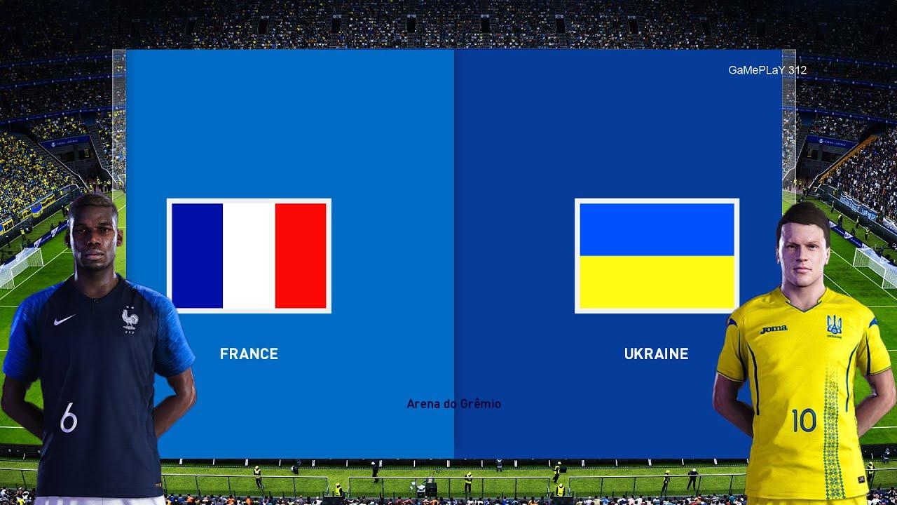 PES 2020 - FRANCE VS UKRAINE - YouTube